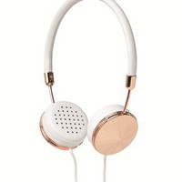 White Leather Layla Headphones | Frends | Avenue32