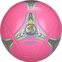 Adidas Euro 2012 Glider Soccer Ball (Ultra Pop Pink/Super Cyan Blue/Electricity Yellow | Metallic S
