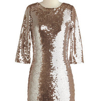 Sparkling Toast Dress | Mod Retro Vintage Printed Dresses | ModCloth.com