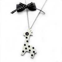 GIRAFFE NECKLACE with DOTS by iloveyoujewels on Etsy