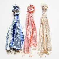 Plaisir; Delilah Scarf - Blue, Orange or Sand