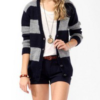 Striped Wool-Blend Cardigan | FOREVER 21 - 2025100677