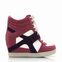 faux suede-wedge-sneakers BEIGE BLACK CAMEL MAUVE SKYBLUE - GoJane.com