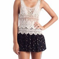 layered crochet tank $31.70 in TPEBLK - Tanks | GoJane.com
