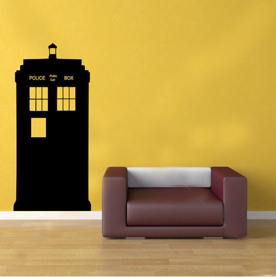 doctor who tardis police box kids vinyl from gdirect wall. Black Bedroom Furniture Sets. Home Design Ideas