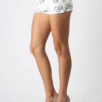 floral print denim shorts &amp;#36;24.20 in WHITE - Denim | GoJane.com