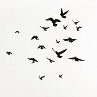 Flock of Birds wall decal sticker
