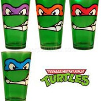 Gift Idea: TEENAGE MUTANT NINJA TURTLE GLASS TUMBLER SET