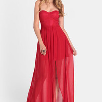 Fire Valley Strapless Dress By Aryn K - $129.00 : ThreadSence, Women's Indie & Bohemian Clothing, Dresses, & Accessories