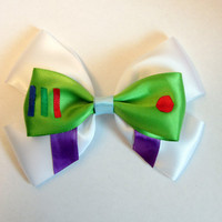 Buzz Lightyear Hair Bow Toy Story Disney by bulldogsenior08