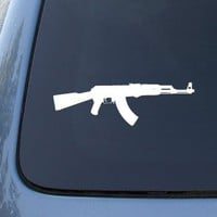 AK-47 Assault Rifle - Car, Truck, Notebook, Vinyl Decal Sticker #2552 | Vinyl Color: White