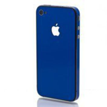 Slick Wraps SW-AIP4-BLUE Skin for Apple iPhone 4/4S - 1 Pack - Skin - Retail Packaging - Blue