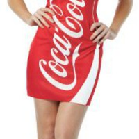 Rasta Imposta Coca Cola Tank Dress, Red/White, Adult 4-10