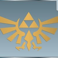 TRIFORCE LOGO #1 from the Legend of Zelda GOLD vinyl decal sticker 4