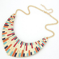Wholesale Fashion Multi Color Big Statement Bib Necklace
