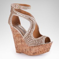 bebe Caitlyn Studded Wedge Sandal