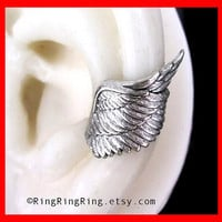Angel wing ear cuff earring jewelry in slight by RingRingRing