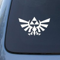 Legend of Zelda Triforce - Car, Truck, Notebook, Vinyl Decal Sticker Vinyl Color: White