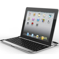 MiniSuit Apple iPad 2, New iPad 3 Aluminum Bluetooth Keyboard Case Cover Stand