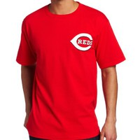 MLB Joey Votto Cincinnati Reds Adult Short Sleeve Basic Tee (Athletic Red, Small)