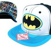 Batman Tri-color Mens Black Snap Back Hat