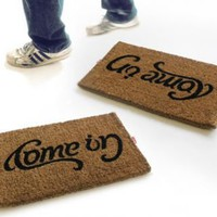 Come In / Go Away Doormat at Curiobot