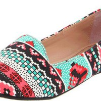 Betsey Johnson Women's Brritney Ballet Flat,Neon,8.5 M US
