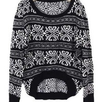 *Free Shipping* Black Vintage Knitting Sweater One Size  from efoxcity