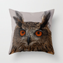 FEATHERING Throw Pillow by catspaws | Society6