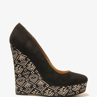 Geo Print Wedges