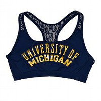 University of Michigan Lace Yoga Bra - Victorias Secret PINK - Victoria's Secret
