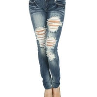 Heavy Destroyed Skinny | Shop Junior Clothing at Wet Seal