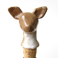 Deer wine stopper  woodland kitchen decor  hostess by oneeyeddog