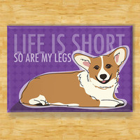 $5.99 Red Pembroke Welsh Corgi Magnet Modern Dog Gift  by Outsidepeg