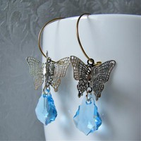 Papillion Earrings - Swarovski Crys.. on Luulla