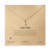 gold dipped carpe diem necklace