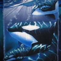 Amazon.com: Orca Fleece Throw Blanket: Home & Kitchen
