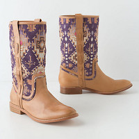 Piped Tapestry Mid-Boots