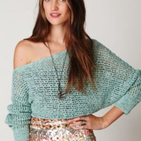 Free People Speckle Ribbed Pullover at Free People Clothing Boutique