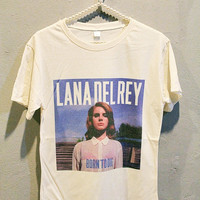 Lana Del Rey T-Shirt Tee Shirt Indie Pop Women T Shirts Off White TShirt Size M