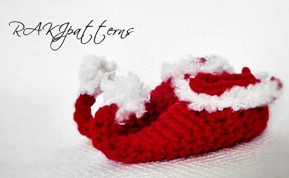 Elf Booties Baby CROCHET PATTERN