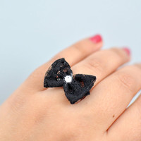 Black Tie Affair Bow Ring By KimArt.. on Luulla