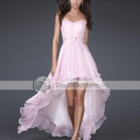 Vienna Junoesque Empire Sweetheart Asymmetrical Chiffon Women's Evening Dress - DinoDirect.com