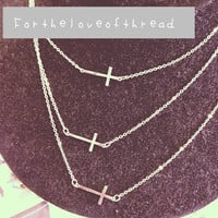 Triple Cross Necklace from For the Love of Thread