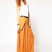 Diesel | Diesel Drape Detail Maxi Skirt at ASOS