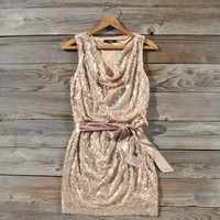 Golden Dew Party Dress, Sweet Women&#x27;s Bohemian Clothing