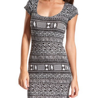 Charlotte Russe - Aztec Body-Con Dress