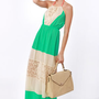 Three Charms a Lady Green Lace Maxi Dress