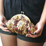 Sequin Cutch  Jewel Embellished purse bag
