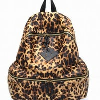 Fashion Leopard Print PU Leather Backpack